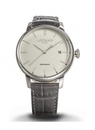 LOCMAN Watch 1960 Automatico Men's 'Only Time' Automatic 5ATM 42mm Ivory Dial