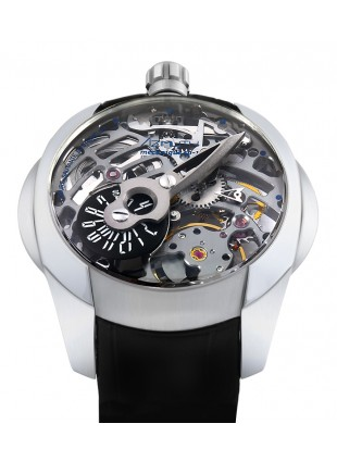 AZIMUTH SP-1 SPACESHIP PREDATOR SKELETON WATCH MYSTERY JUMPING HOUR on 3D HAND caseback