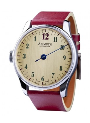 AZIMUTH ROUND-1 BACK IN TIME WHISKEY WATCH ANTICLOCKWISE MOTION ETA MOVT