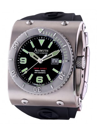 AZIMUTH XTREME-1 DEEP DIVER WATCH 2000m WR BIG DATE 46mm SWISS ETA 2826-2 AUTO