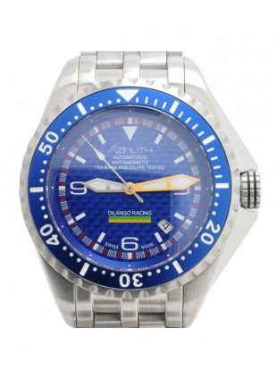 AZIMUTH EXTREME-1 SEA HUM DILANGO RACING WATCH BLUE DIAL S/STEEL BRACELET