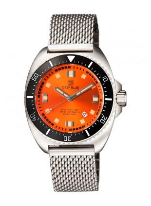 Deep Blue Deep Star 1000 Swiss Auto dive watch Ceram bez Oran Dial Mesh Bracelet