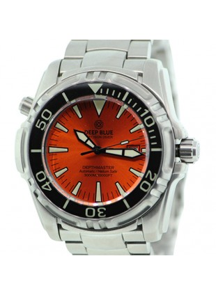 DEEP BLUE DEPTHMASTER 3000 WATCH AUTO 49mm DATE 28800 bph 3000m ORANGE