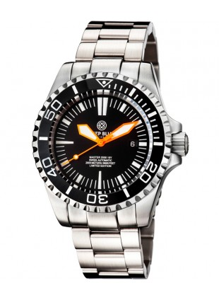 Deep Blue MASTER 2000 Automatic Diver Swiss ETA 2824-2 Orange hands Black dial