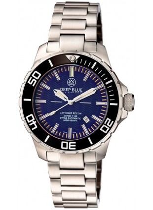 Deep Blue DAYNIGHT RECON Tritium T-100 Auto watch Swiss ETA 2824-2 mvt Blue dial
