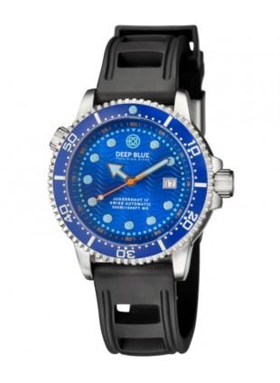 Deep Blue Juggernaut IV Automatic Diver watch Swiss Mvt Blue dial Black strap