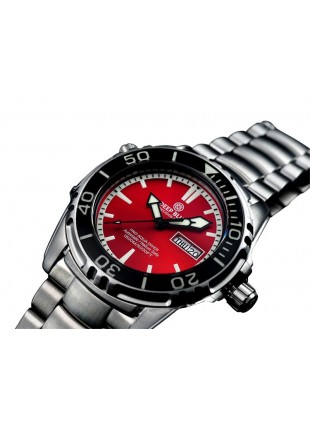 DEEP BLUE PRO AQUA 1500 DIVING WATCH AUTO DAY/DATE 45mm 1500m/5000ft WR RED DIAL