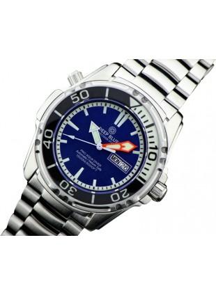 DEEP BLUE PRO AQUA 1500 DIVING WATCH AUTO DAY/DATE 1500m WR 1/4 BEZEL BLUE DIAL