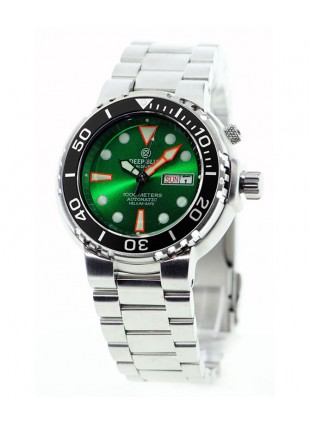 DEEP BLUE SUN DIVER III 1K DIVING WATCH 1000m WR SEIKO 40hr PWR RES GREEN DIAL