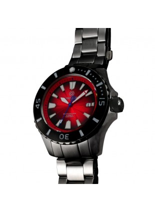 DEEP BLUE MASTER EXPLORER 1000 AUTOMATIC 316L STAINLESS STEEL CASE – RED DIAL