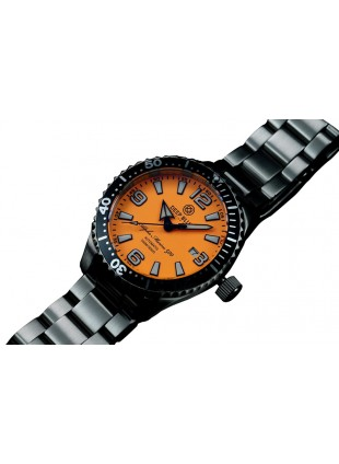 DEEP BLUE 42MM ALPHA MARINE 500 DIVER AUTOMATIC 316L STAINLESS STEEL CASE – ORANGE-WHITE