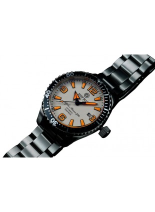 EEP BLUE 42MM ALPHA MARINE 500 DIVER AUTOMATIC 316L STAINLESS STEEL CASE – WHITE-ORANGE
