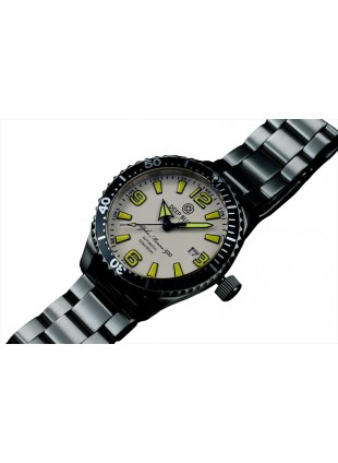 DEEP BLUE 42MM ALPHA MARINE 500 DIVER AUTOMATIC 316L STAINLESS STEEL CASE – WHITE-YELLOW
