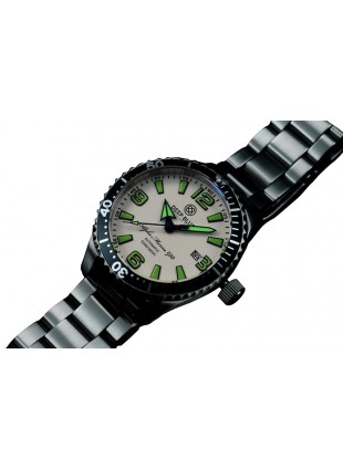 DEEP BLUE 42MM ALPHA MARINE 500 DIVER AUTOMATIC 316L STAINLESS STEEL CASE – WHITE-GREEN