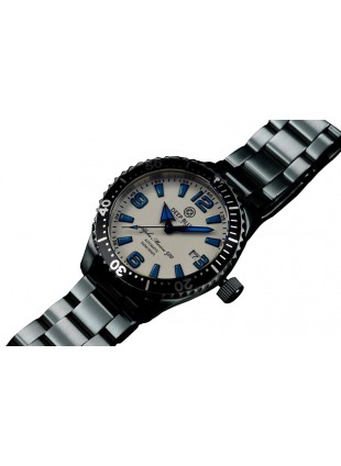 DEEP BLUE 42MM ALPHA MARINE 500 DIVER AUTOMATIC 316L STAINLESS STEEL CASE – WHITE-BLUE