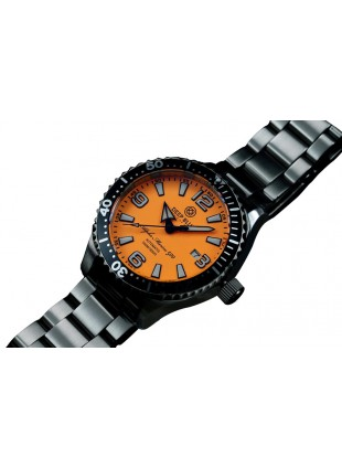 DEEP BLUE 45MM ALPHA MARINE 500 DIVER AUTOMATIC 316L STAINLESS STEEL CASE – ORANGE-WHITE