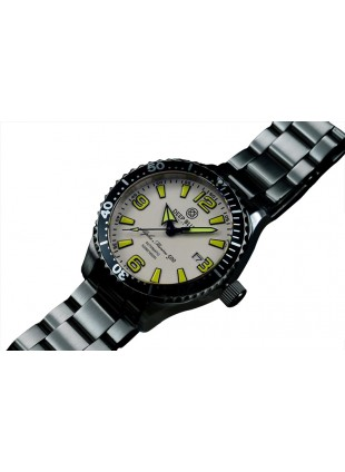 DEEP BLUE ALPHA MARINE 500 45mm AUTO DIVER WATCH MIYOTA 500m WR WHITE-YELLOW DIAL