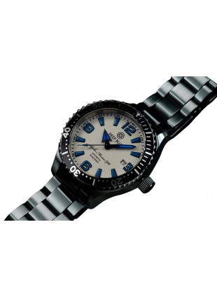 DEEP BLUE 45MM ALPHA MARINE 500 DIVER AUTOMATIC 316L STAINLESS STEEL CASE – WHITE-BLUE