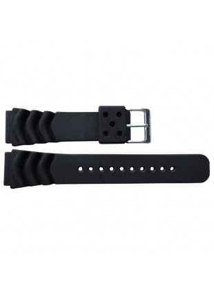"GENUINE DEEP BLUE 22MM SILICON AP DIVE STRAP ""DEEP BLUE"" LOGO ON BUCKLE"