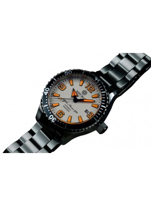 DEEP BLUE 45MM ALPHA MARINE 500 DIVER AUTOMATIC 316L STAINLESS STEEL CASE – WHITE-ORANGE