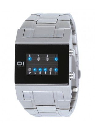 01 THE ONE KERALA TRANCE BINARY LED COOL FASHION WATCH KTL102B2 SS BRACELET