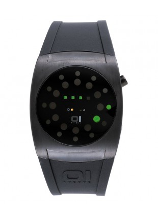 01 THE ONE LIGHTMARE LED COOL FASHION WATCH LL202G3 ROUND DIAL PU STRAP