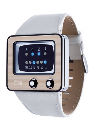 01 THE ONE TV BINARY LED COOL FASHION WATCH 45mm DIAM. TV228B1 LEATHER BAND