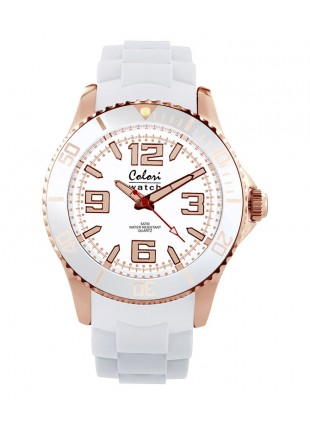 COLORI AMAZING ROSE COLLECTION WATCH 50M WR LUMINOUS JAPAN QUARTZ IPR WHITE 32/40/44MM
