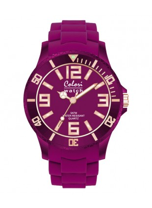 COLORI CLASSIC CHIC WATCH 50M WR JAPAN QUARTZ AUBERGINE 40MM DIAMETER 5-COL133