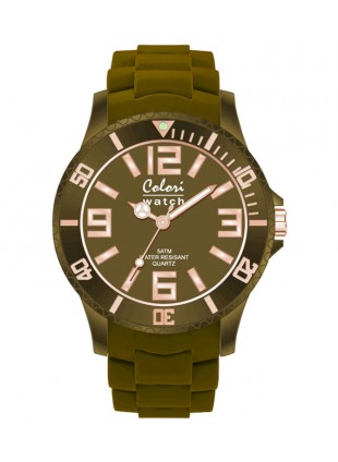 COLORI CLASSIC CHIC WATCH 50M WR JAPAN QUARTZ FOREST GREEN 40MM DIAMETER 5-COL136