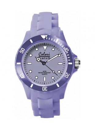 COLORI CLASSIC COLLECTION WATCH 50M WR JAPAN QUARTZ PASTEL PURPLE 40MM DIAMETER 5-COL145
