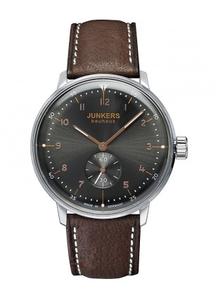 Junkers BAUHAUS Swiss Automatic ETA 7001 Watch 40mm Case Anthracite Dial 6030-2