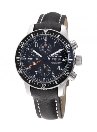 FORTIS B-42 OFFICIAL COSMONAUTS CHRONO AUTO 200m WR BLACK LEATHER