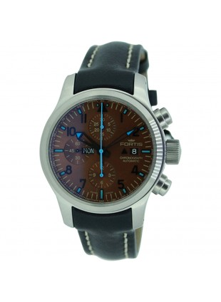 FORTIS Aviatis Blue Horizon Chrono Day Date Auto Watch 135pc Ltd Edn 656.10.95