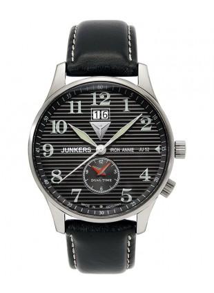 Junkers Iron Annie JU52 Quartz watch Big date Dual time 40mm White dial 6640-2