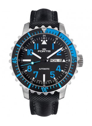 FORTIS Aquatis Marinemaster Swiss Auto Day/Date watch 200m WR 42mm