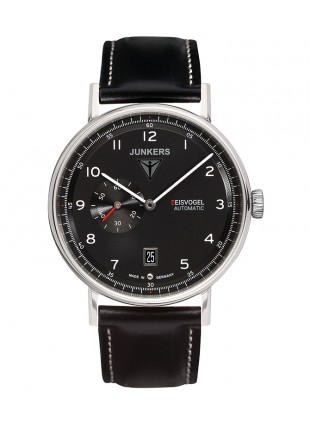 Junkers EISVOGEL F13 Swiss Auto watch 40mm 5ATM Sapphire glass Black dial 6704-2