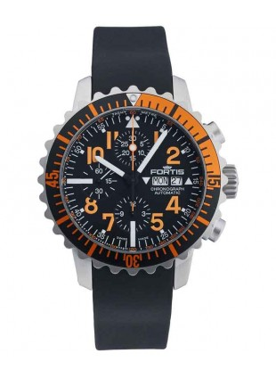 FORTIS Aquatis Marinemaster Chrono 42mm Swiss Auto watch 200m WR 671.19.49 K