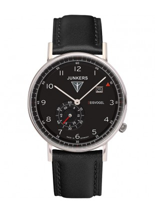 Junkers EISVOGEL F13 Swiss quartz watch 40mm S/Steel case Black dial 6730-2