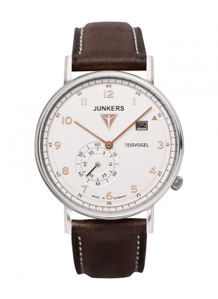 Junkers EISVOGEL F13 Swiss quartz watch 40mm S/Steel case Grained dial 6730-4