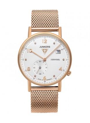 Junkers EISVOGEL F13 LADY Swiss Quartz watch 36mm Grained white dial 6733M-5