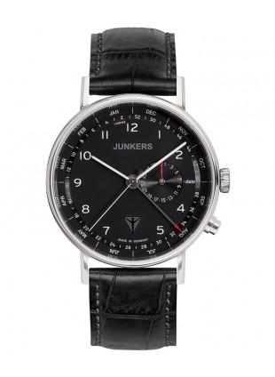 Junkers EISVOGEL F13 Swiss quartz watch 40mm S/Steel case 50m WR Blk dial 6734-2
