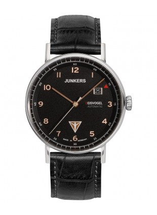 Junkers EISVOGEL F13 Swiss Auto Sellita watch 40mm S/Steel case Blk dial 6754-5