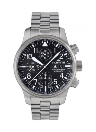 Fortis Aviatis F-43 Stealth Chronograph 43mm Swiss auto watch LTD ED 701.10.81 M
