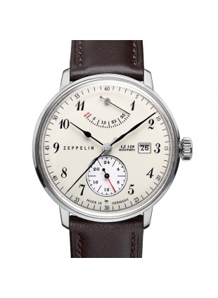 ZEPPELIN LZ129 HINDENBURG 7060-4 SELF-WINDING WATCH with MECHANIC CAL MOVEMENT 30M WR BEIGE DIAL