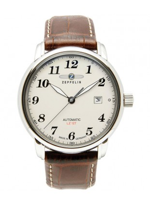 Zeppelin LZ127 Graf Zeppelin Automatic watch Exhibition back Beige dial 7656-5