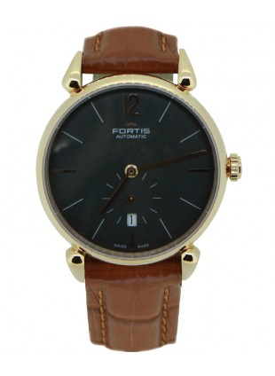Fortis Terrestis Orchestra PM Classical Auto watch 18K R/Gold Case 900.13.31