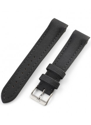 FORTIS Leather strap Performance black with Pin Buckle brushed 99.131.01.010