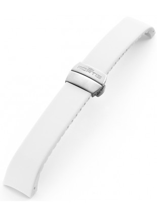 FORTIS B-42 Silicone strap white with folding clasp 99.99.02 Si