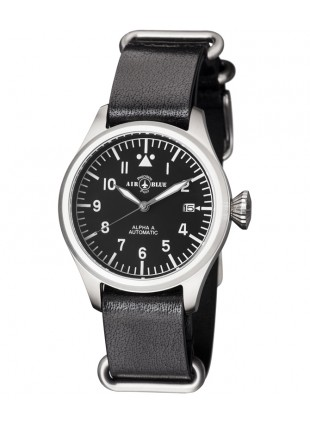 Air Blue ALPHA A S/S Pilots watch Auto Date Sapphire Crystal 41/44/47mm case